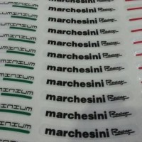 Stiker Velg Ring 14 Marchesini Racing - Putih