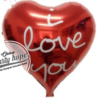 I Love You Heart Balloon Foil / Balon Foil Hati / Balon Valentine