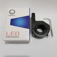 Bracket / Braket Crashbar Jepit Lampu LED Tembak / Sorot Stang Motor