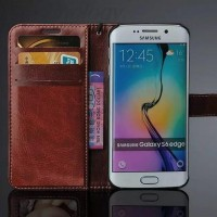 Flip Cover Wallet Case Leather For Samsung Galaxy S6 Edge Free Tali