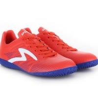 Sepatu Futsal SPECS APACHE IN Red Poppy / Naval Blue / White ASLI