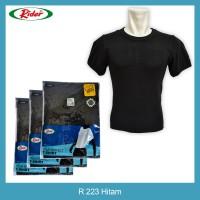 T-Shirt / Kaos Dalam / Oblong RIDER HITAM - Style R223B