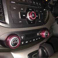 Honda CRV 13-16 ring tombol AC, start/stop,Audio,ECO full set Red