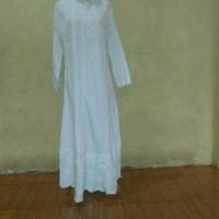 gamis wanita abaya putih, aamaleeq.