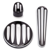 Arlen Ness Deep Cut Dash Accessory Pack - Black Harley 08 - 13