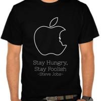 Kaos Apple - Stay Hungry Stay Foolish (NM722)