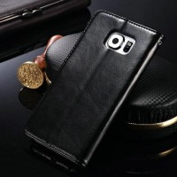 Flip Wallet PU Leather Syntetic Book Case Cover Samsung Galaxy S6 Edge