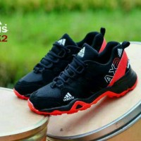 Sepatu Adidas AX2 Man Premium Black Red Blue Running Fitnes