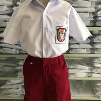 kemeja putih pendek bed SD no 2,3,4 Seragam Sekolah New Pratama