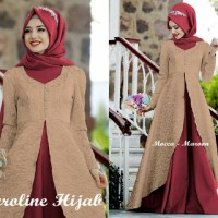 Gamis Caroline / Hijab Muslim / Baju Muslim / Muslim / Kebaya Modern S