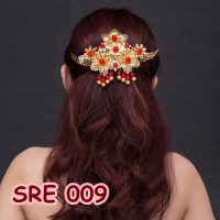 Sirkam Rambut Emas Bridal - Aksesoris Sanggul Kebaya Modern - SRE 009