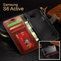 Wallet Active Premium Leather Flip Cover Card Case Samsung Galaxy S6