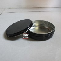 Kaleng Pomade Polos 8x2,5cm 3oz Hitam Black TERLARIS BEST SELLER