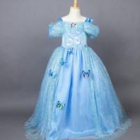 baju pesta anak Cinderella / kostum anak Cinderella lengan pendek
