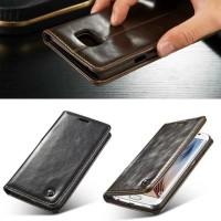 Caseme Leather Flip Case Cover Dompet Slot Card Samsung Galaxy S6 FLAT