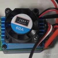 ESC 60A for Brushless motor RC car 1:10 1:12 with fan