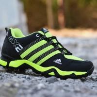 Sepatu Sport Adidas AX2 Hitam Hijau / Running Outdoor Pria