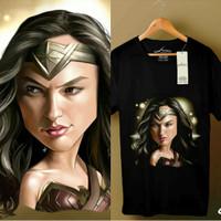 T Shirt / Kaos Superhero DC Wonder Woman Justice League Black Ori