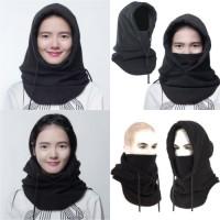 4 in 1 Thermal Fleece Balaclava full face Masker Kupluk Polar Panjang