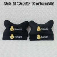 bantal mobil /jok mobil set 2 BoRdiR ReaL MadRid