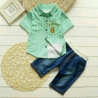 Baju Anak Import / Setelan Anak Cowok Fashion / Baju Kemeja Anak Lucu