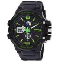 Jam tangan wanita D 35 mm SKMEI 0990 Original black green