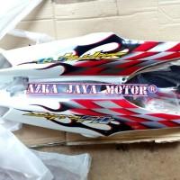 Cover Body Samping Honda Supra Fit New Warna Putih + Striping spesial