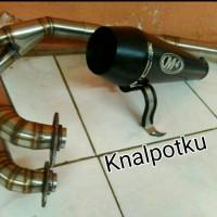 Knalpot Racing M4 Black Doft PNP Ninja250,FI,Z250,Karbu