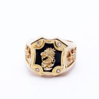 Cincin Pria Perak Sterling Berlapiskan Emas dan Rose Gold 10 (Free Box