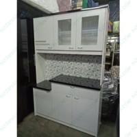 Kitchen set pantry lemari piring dapur multipleks kayu putih bandung