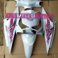 Cover Body Halus Honda Beat Lama Karbu Warna Putih striping pink 2010