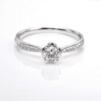 Tiaria DHTXDFJ047 Perhiasan Cincin Emas Putih Dan Zircon White Gold 9
