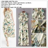White Long Dress Maxi Longdress Pantai Baju Wanita Korea Import Putih