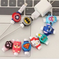 Pelindung Kabel Charger Iphone Ipad Smartphone USB Karakter 2 Sisi