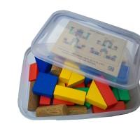 Mainan Edukatif / Edukasi Anak - Puzzle Balok Kayu - City Block MDF 30