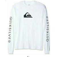 kaos lengan panjang/baju Longsleeve QUIKSILVER SURF pakaian Pria