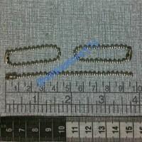 ball chain / gantungan merica / biji lada / rantai kodok d=2mm p=10cm