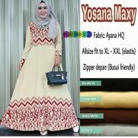 Gamis Muslim Jersey Ayana Umbrella / Maxi Dress Busui Motif Klok Murah