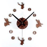 Jam Dinding Besar DIY 30-60cm Diameter - ELET00663 - Brown