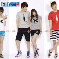 Dasi Pita - Kaos Couple/ Baju Pasangan / Couple Korea / Grosir