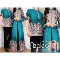 3122 Couple batik toska murah baju formal pasangan cp sarimbit murmer