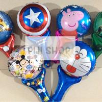 Balon Foil Tongkat / Pentung Karakter 4 (Souvenir Ulang Tahun)
