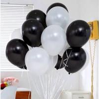 balon latex hitam putih / black white