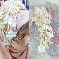 Diskon!!!! headpiece hijab pengantin (Promo!!!) SERBU!!!!