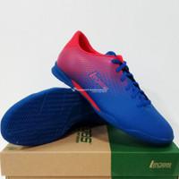 Sepatu Futsal League Legas Attacanti LA Snorkle Blue Fiery Red Biru Me - Merah, 40