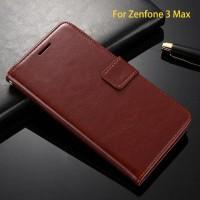 Leather FLIP COVER WALLET Asus Zenfone 3 Max 5,5 ZC553KL Case Casing