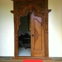 Gebyok Pintu Rumah Ukiran Jepara Kayu Jati Kusen Ukir furniture Jepara