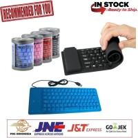 FLEXIBLE KEYBOARD MINI USB - Hitam