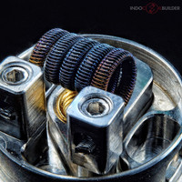 Frame Staple Stitched Alien / coil art