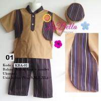 K143 (3-24 bln) Baju Muslim Bayi / Koko Bayi Labella KB-01 Top 0